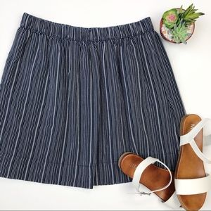 GAP cotton and linen blend striped mini skirt